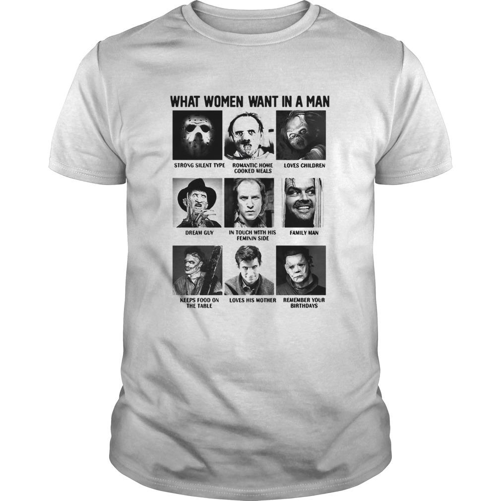 What Women Want In A Man Strong Silent Type Loves Children shirt Classic Men's