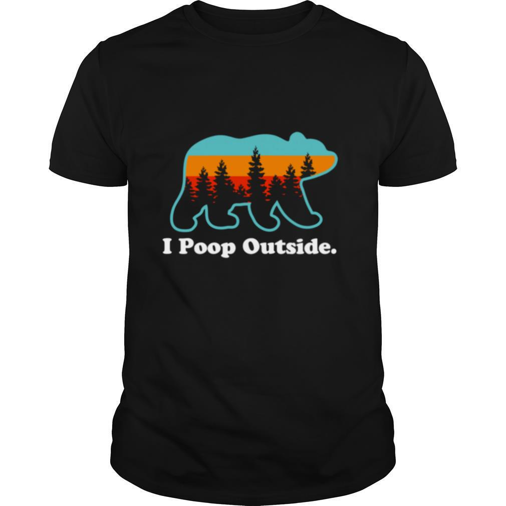 Camping for Outdoorsman I Poop Outside shirt Classic Men's