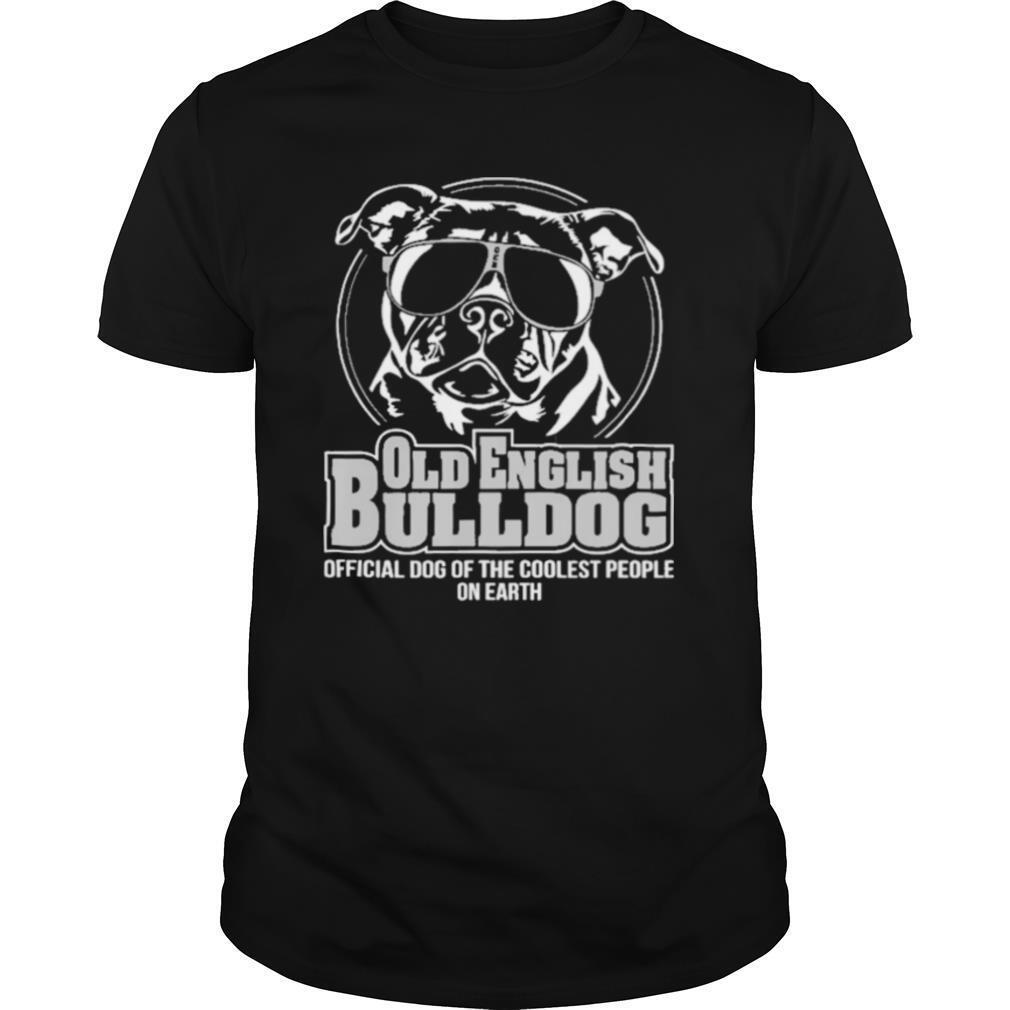 Cool old english bulldog dog shirt Classic Men's