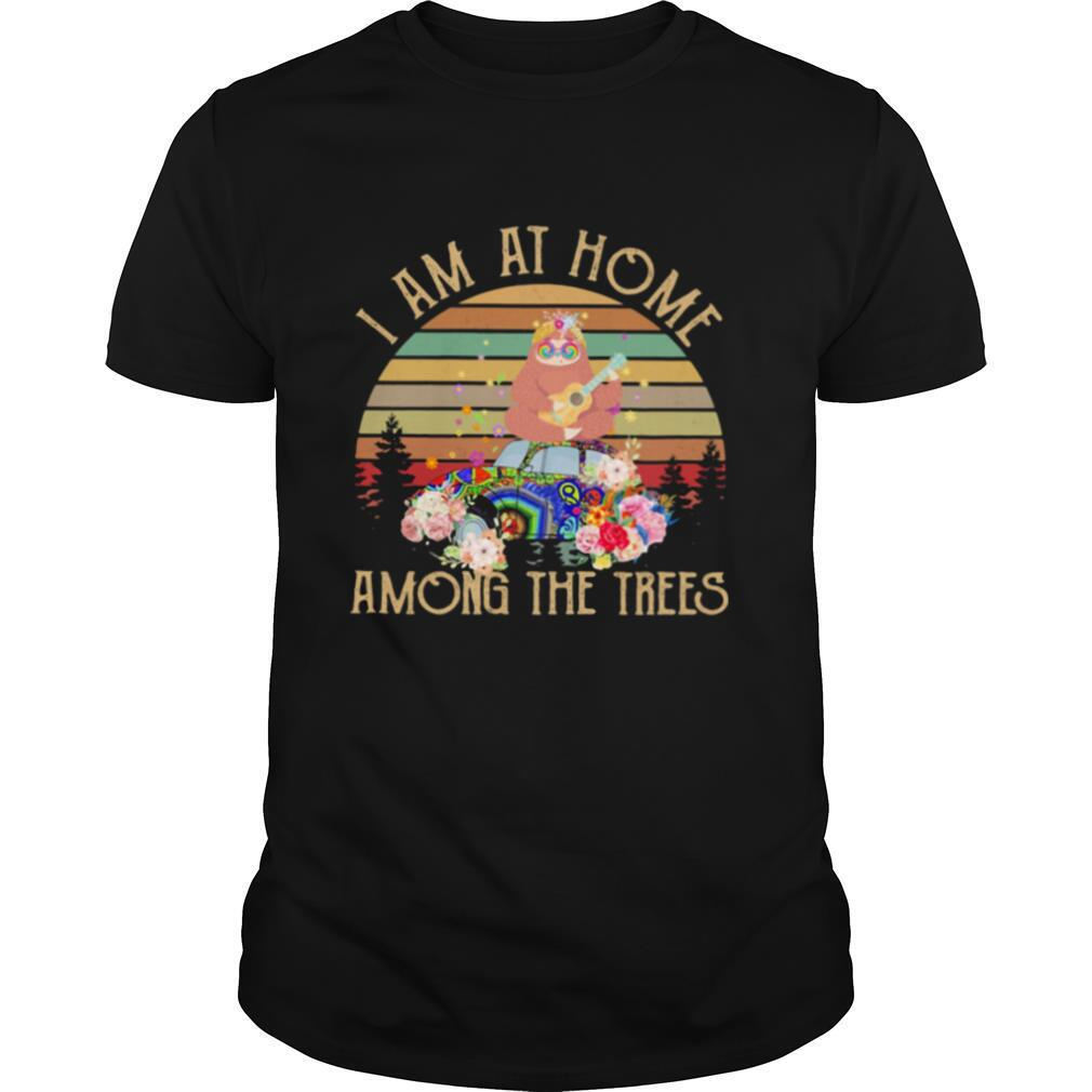 I Am At Home Among the Trees Sloth Vintage shirt Classic Men's