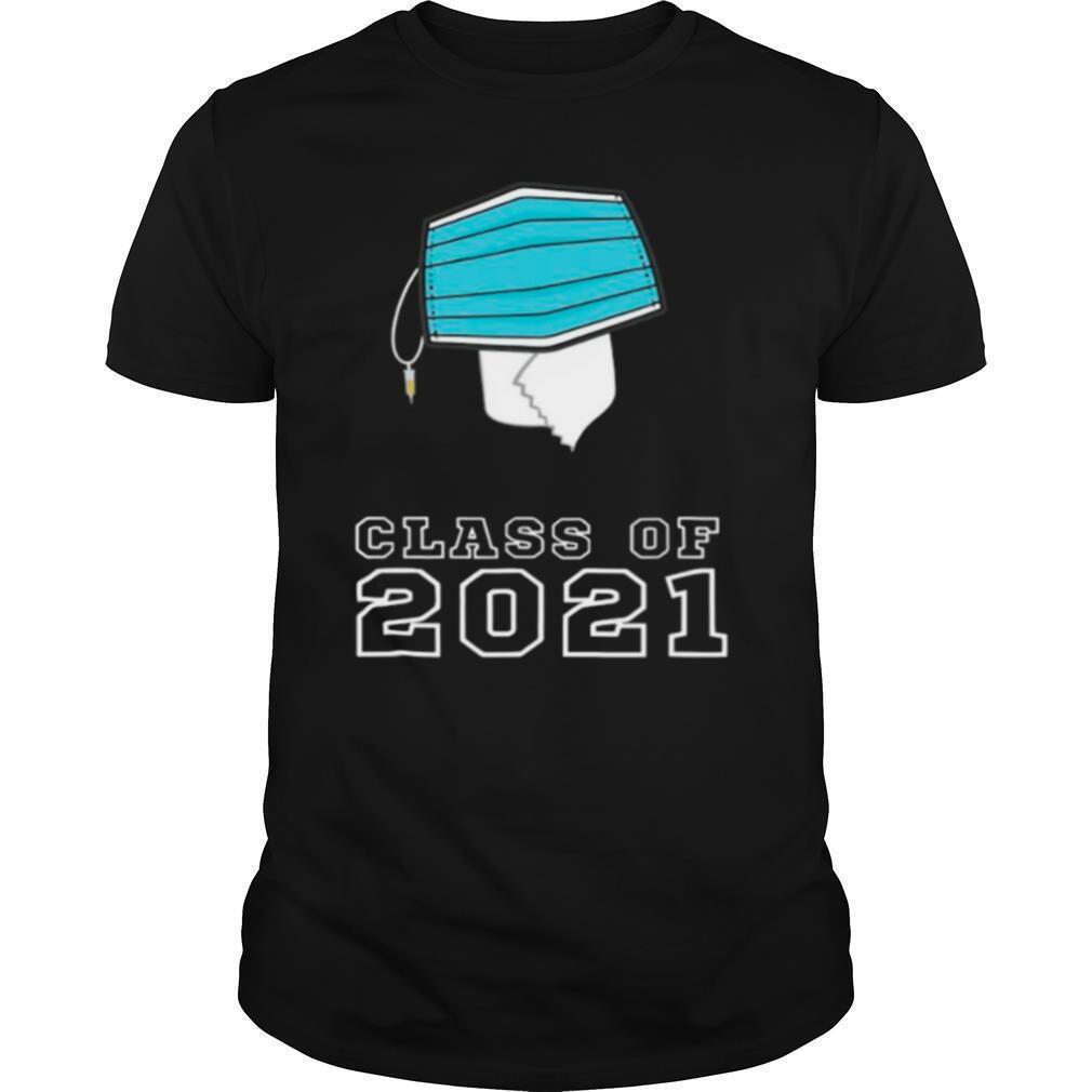 Toilet Paper Face Mask Class Of 2021 Graduation Cap shirt Classic Men's