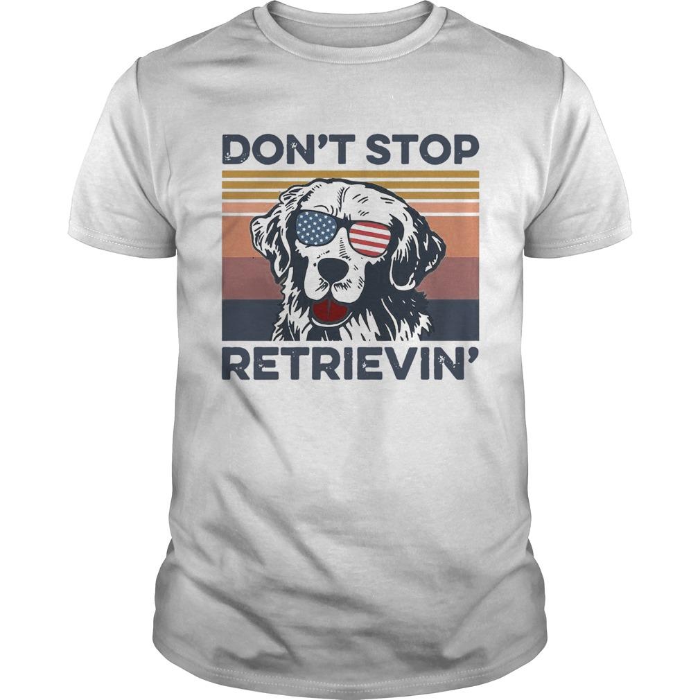 Dog Golden Dont Stop Retrievin Vintage shirt Classic Men's