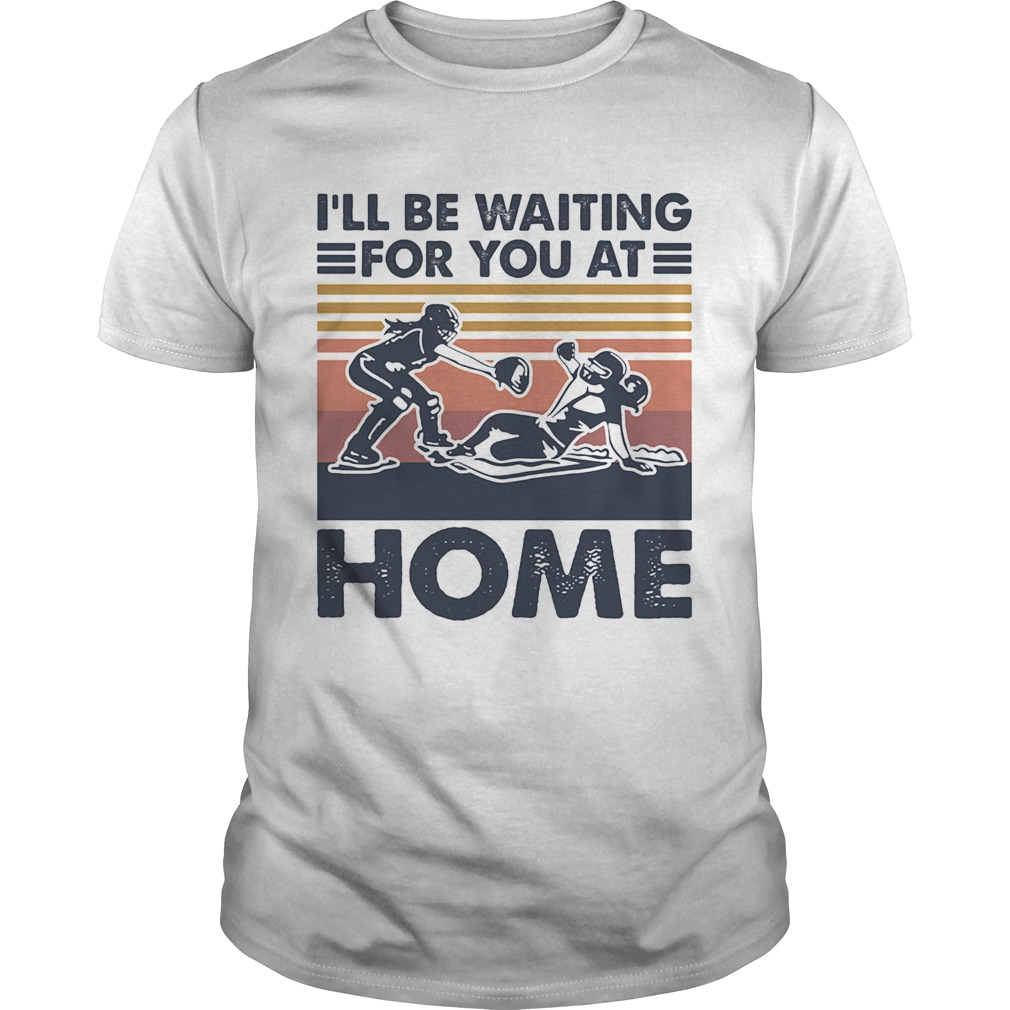 Rugby Ill be waiting for you at home vintage shirt Classic Men's