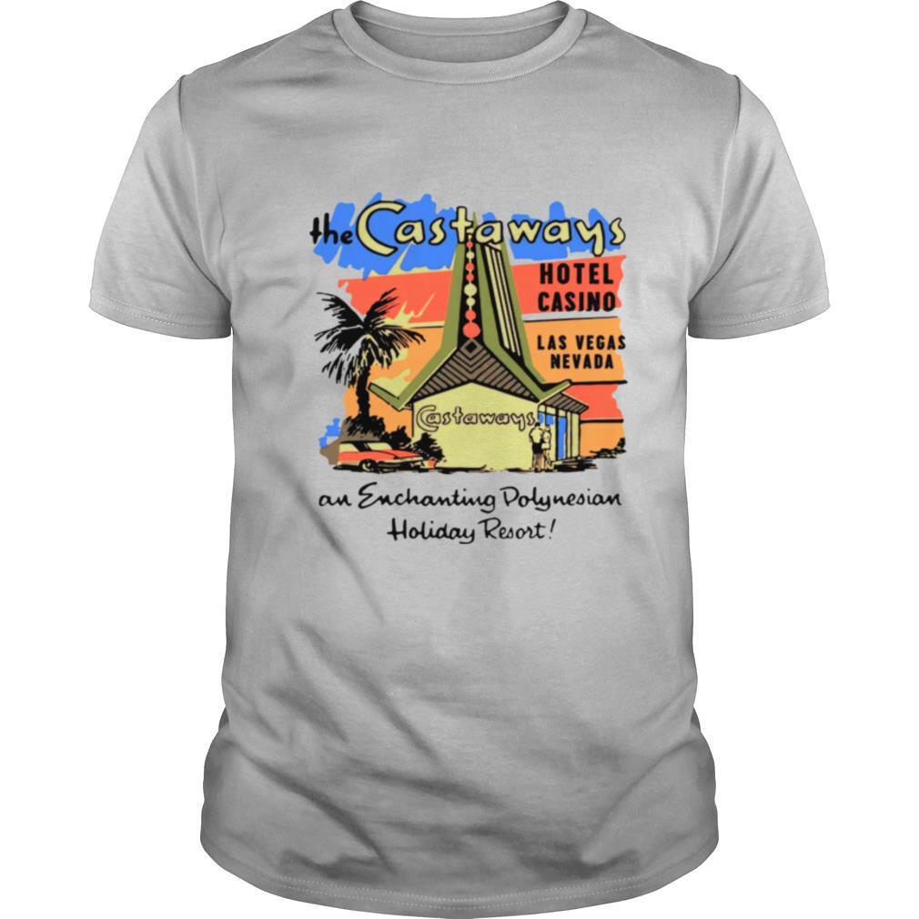 The Castaways Polynesian Resort Hotel Vintage Las Vegas shirt Classic Men's