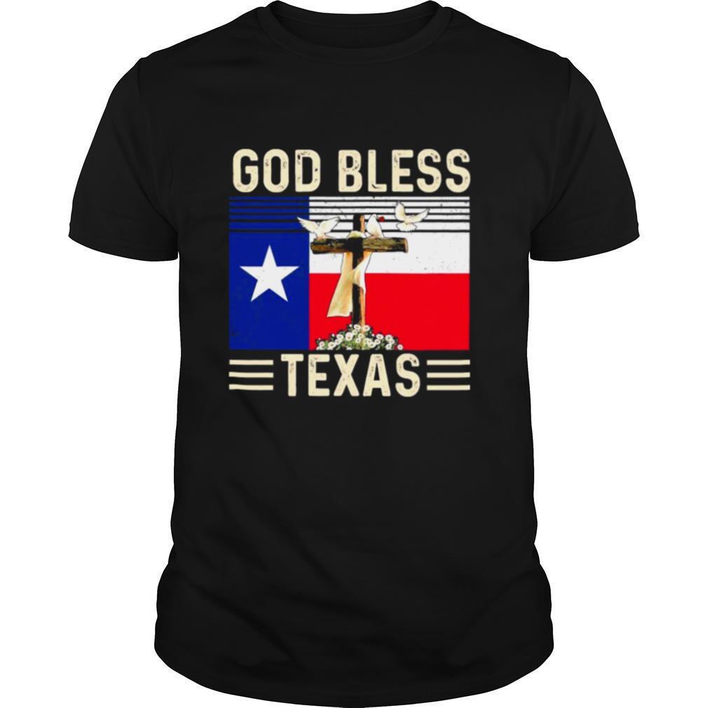 God Bless Texas Flag shirt Classic Men's