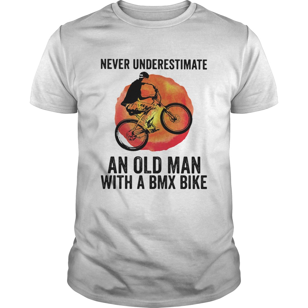 Never underestimate an old man with a bmx bike vintage shirt Classic Men's