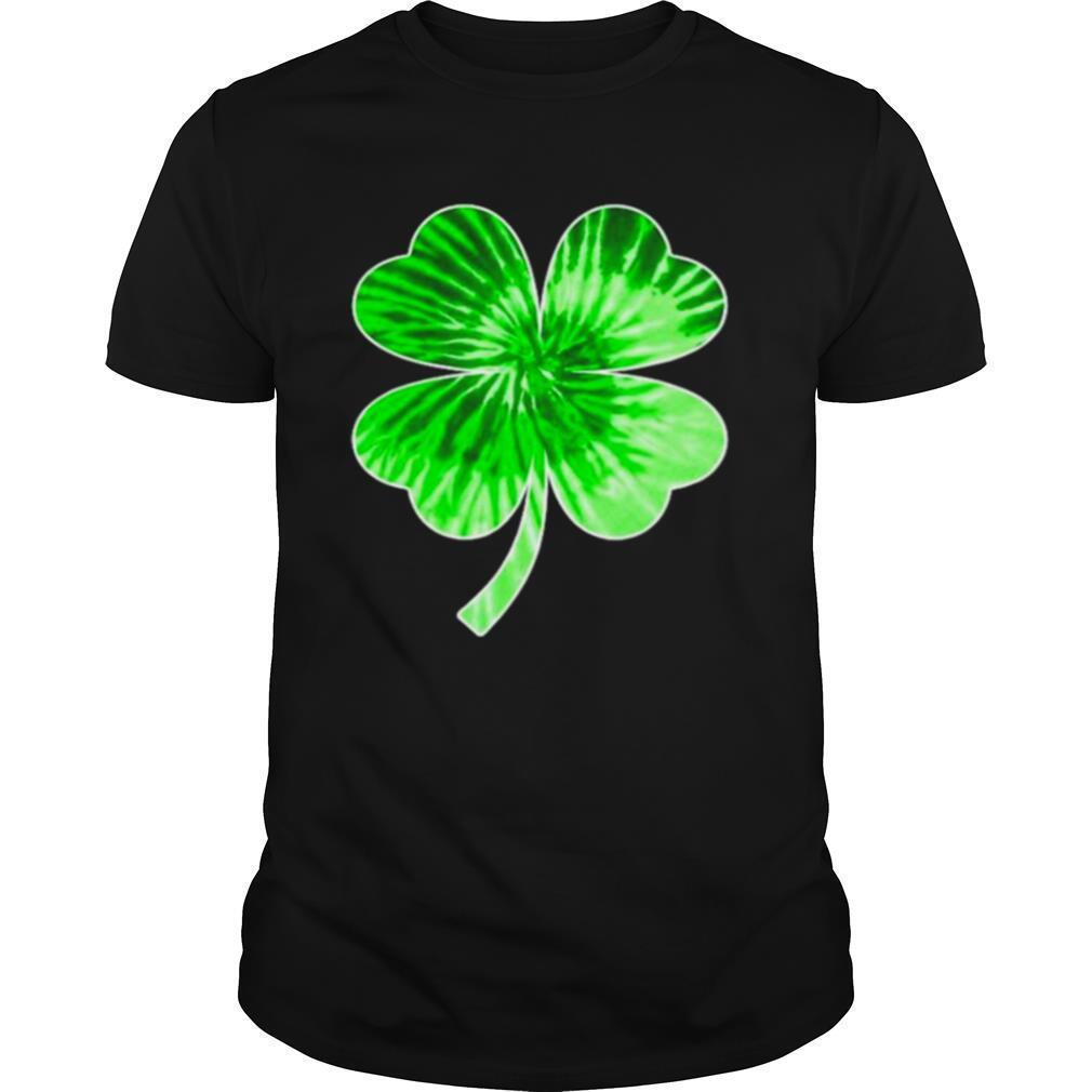 Shamrock four leaf clover tie dye shirt Classic Men's