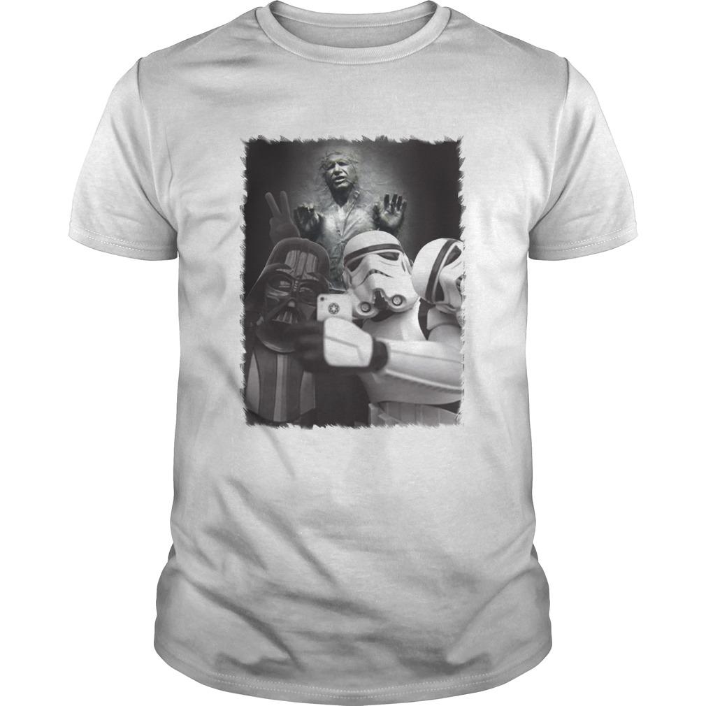 Star wars darth vader and stormtroopers selfie han solo frozen carbonite shirt Classic Men's