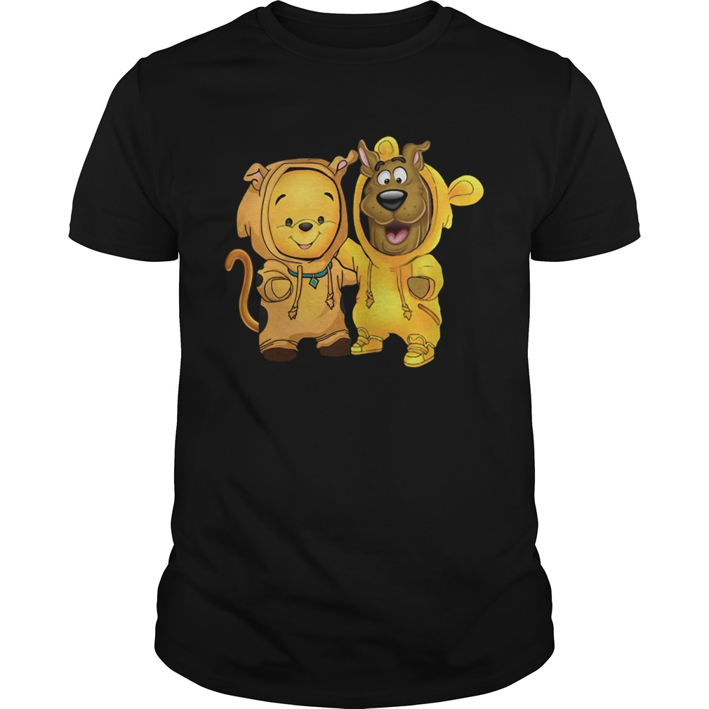 Baby Pooh and Scooby Doo shirt Classic Men's