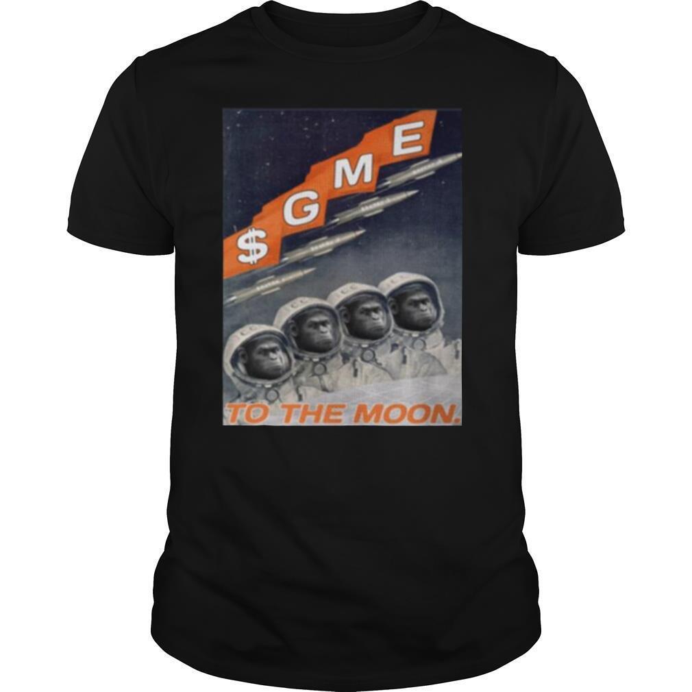 Gamestop Cosmonaut To The Moon shirt Classic Men's