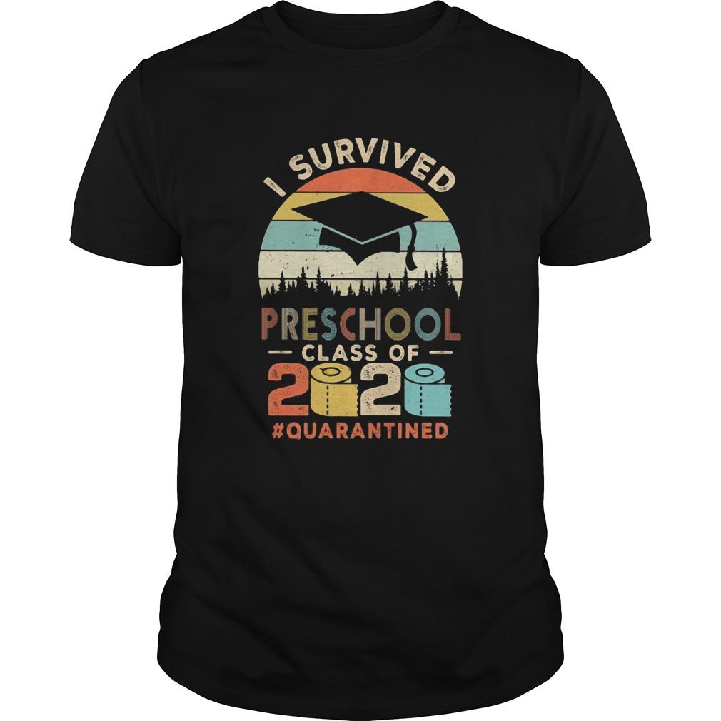 I survived preschool class of 2020 quarantined toilet paper shirt Classic Men's