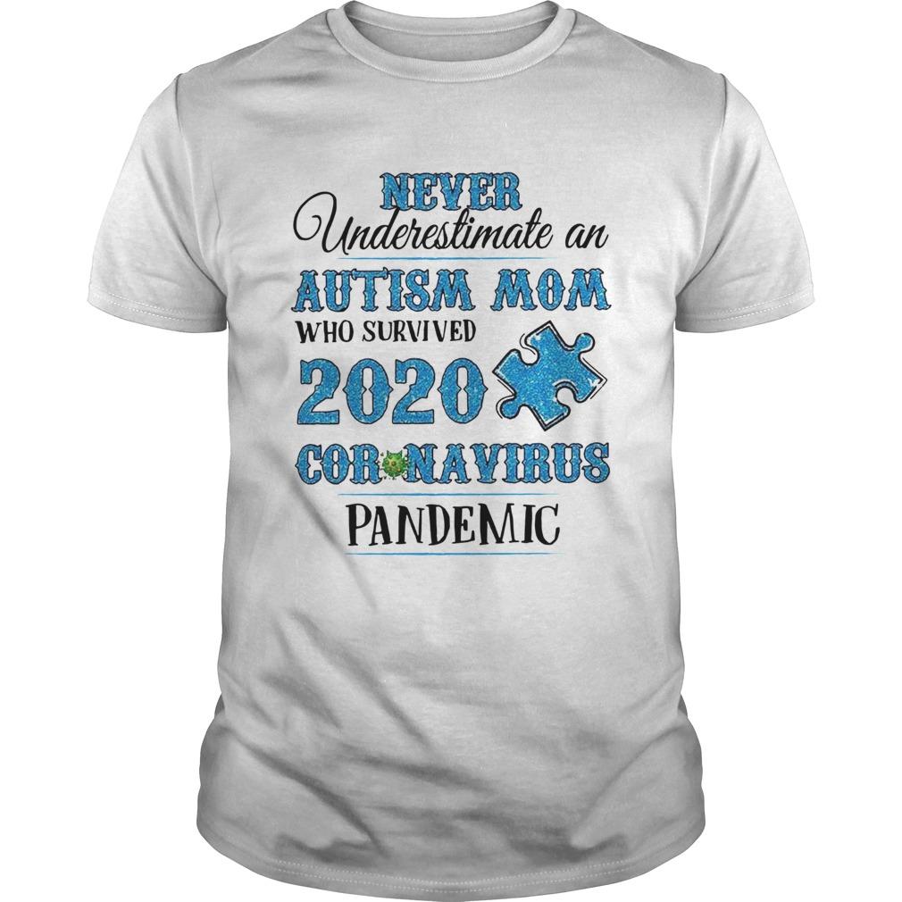 Never Underestimate An Autism Mom Who Survived 2020 Coronavirus Pandemic Women shirt Classic Men's