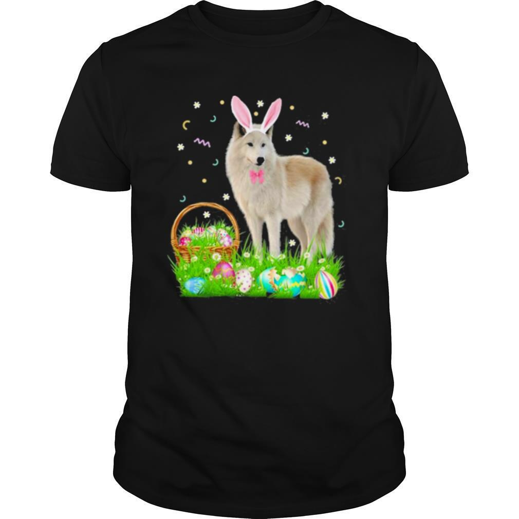 Wolf Easter Day Bunny Eggs Easter Costume shirt Classic Men's