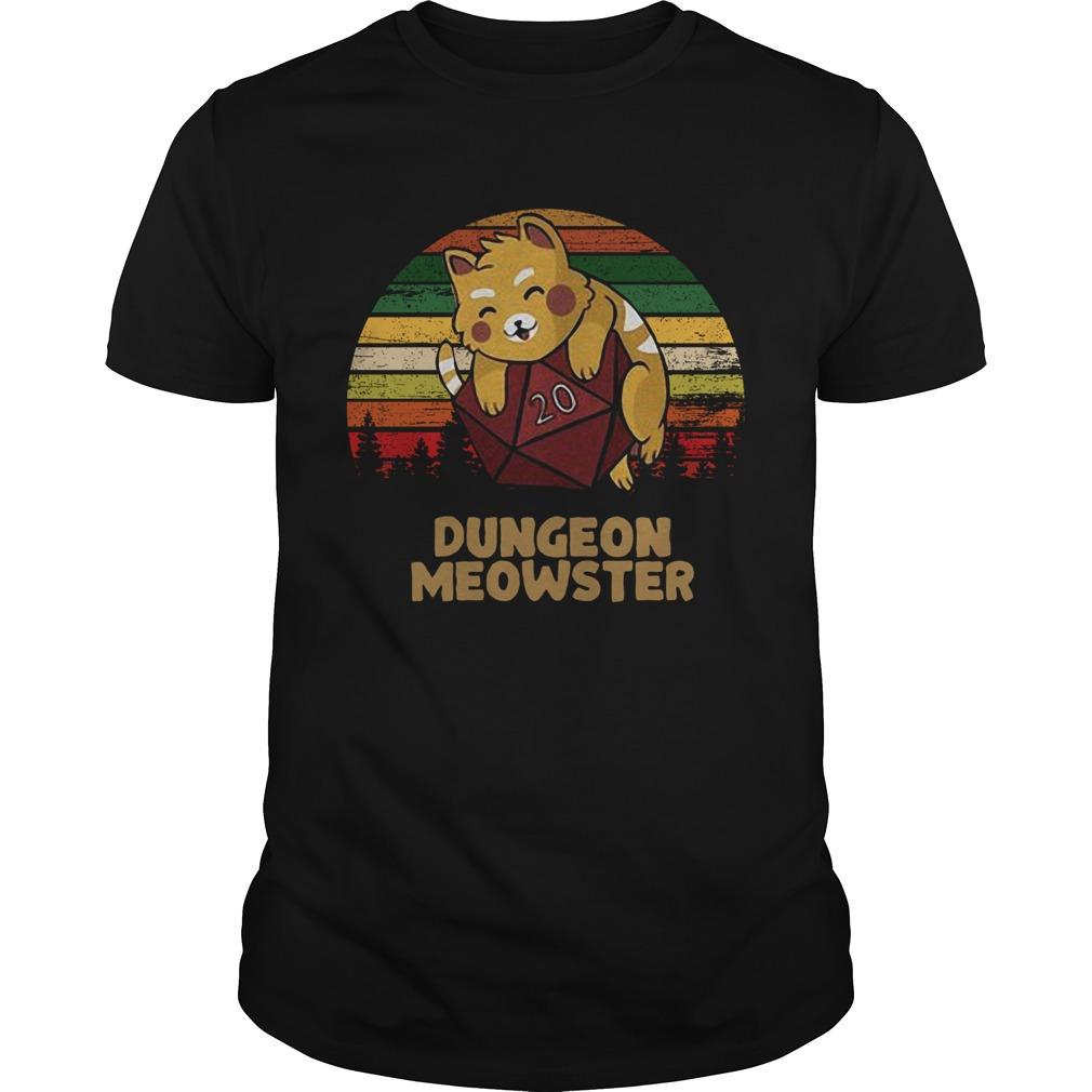 Dungeon Meowster Dnd Tabletop Gamer Cat shirt Classic Men's