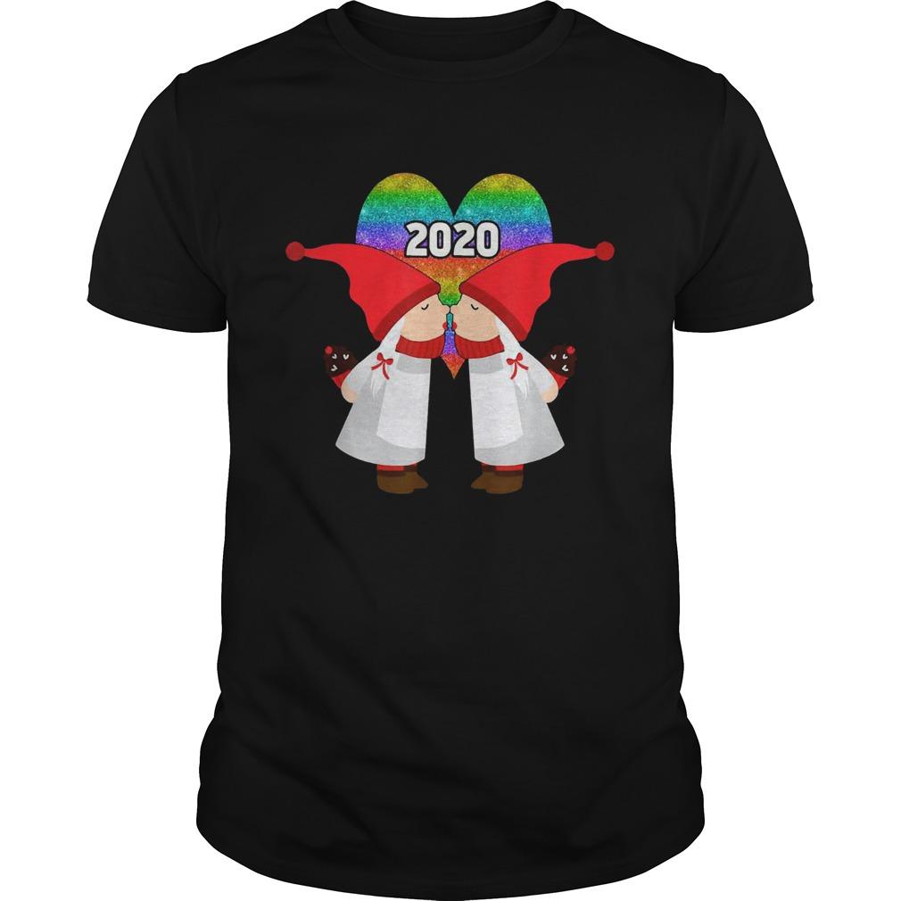 Gnome Couple Lesbian Valentines Day 2020 shirt Classic Men's