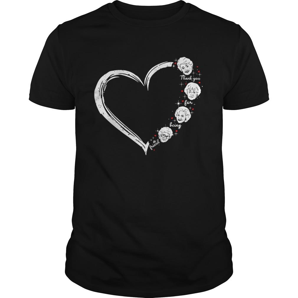 Love thank you for being a friend golden girls heart shirt Classic Men's