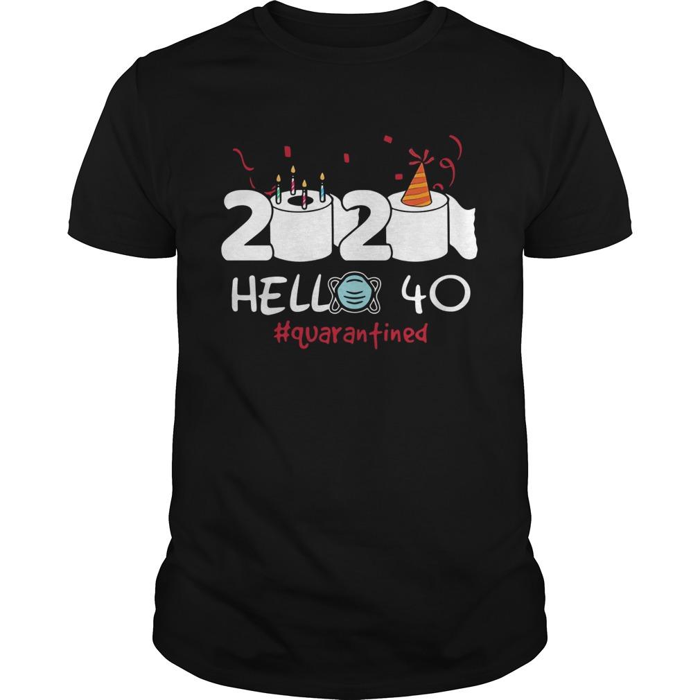 2020 Hello 40 Toilet Paper Birthday Cake Quarantined Social Distancing shirt Classic Men's