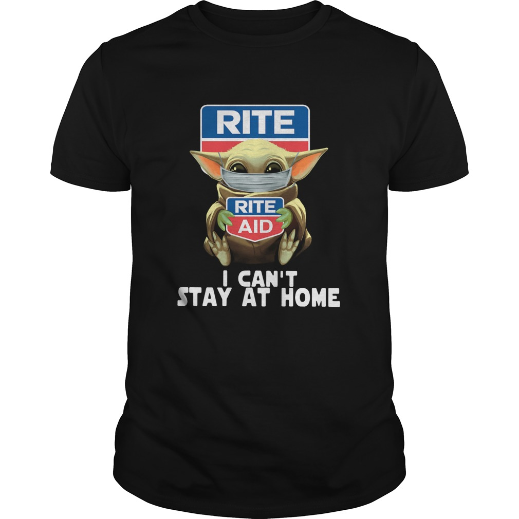 Baby Yoda Face Mask Hug Rite Aid I Cant Stay At Home shirt Classic Men's