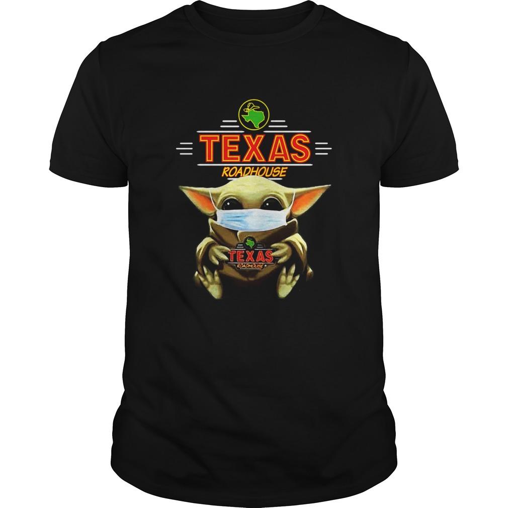 Baby Yoda Face Mask Hug Texas Roadhouse shirt Classic Men's