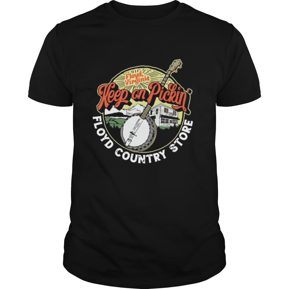 Keep Pickin Floyd Country Store Vintage Banjo Grap T shirt Classic Men's