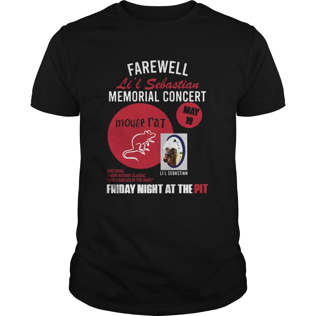 Parks And Recreation Farewell Lil Sebastian Memorial Concert shirt Classic Men's