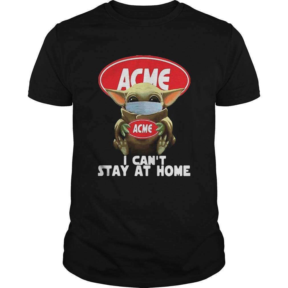 Star Wars Baby Yoda Hug ACME I Cant Stay At Home COVID19 shirt Classic Men's