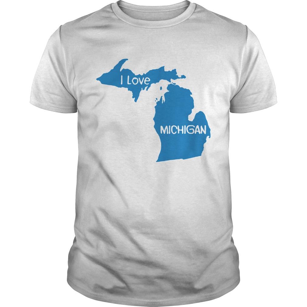 i love michigan map shirt Classic Men's