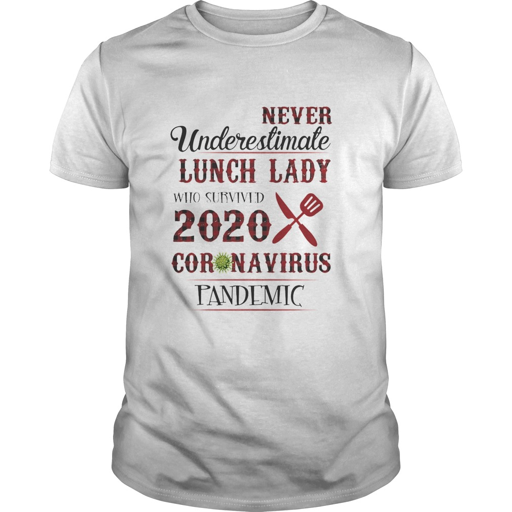 Never Undereslimate Lunch lady who survived 2020 Coronavirus Pandemic shirt Classic Men's