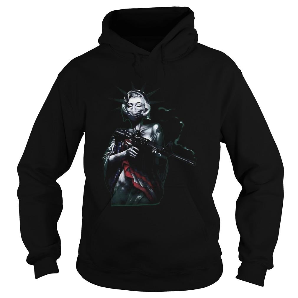 virus masked marilyn  hoodie