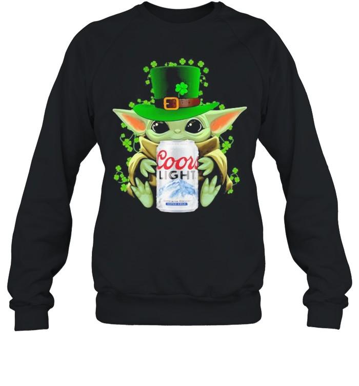 Baby Yoda Hug Coor Light Irish Patricks Day Unisex Sweatshirt
