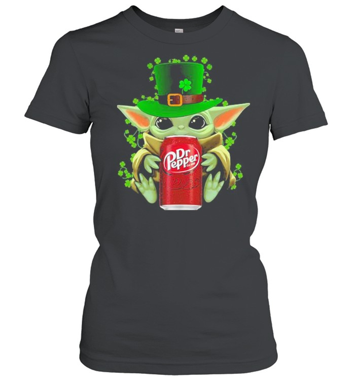 Baby Yoda Hug Dr Pepper Irish Patricks Day Classic Women's T-shirt