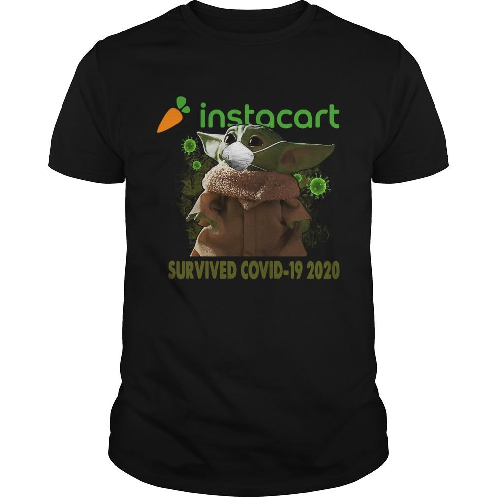 Baby Yoda Instacart Survived Covid 19 2020 shirt Classic Men's