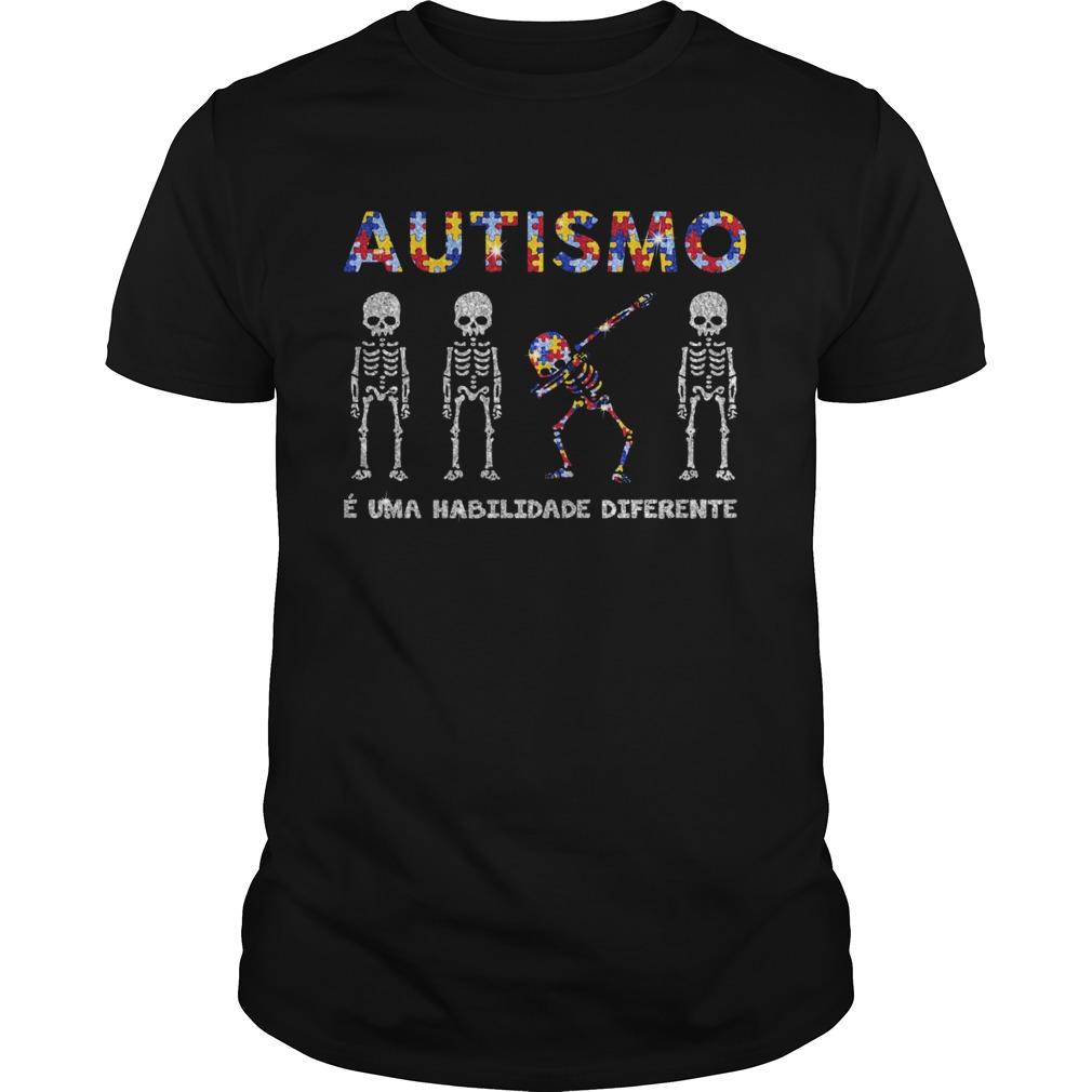 Skeleton Diamond Autismo E Uma Habilidade Diferente shirt Classic Men's