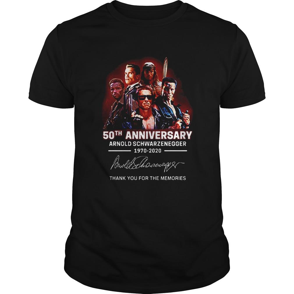 Arnold Schwarzenegger 50th anniversary 19702020 thank you for the memories shirt Classic Men's