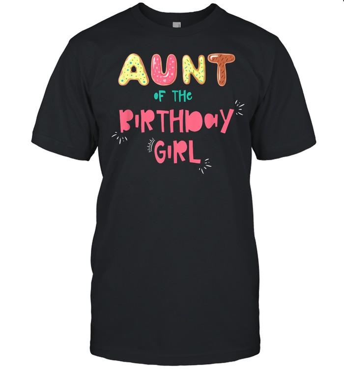 Aunt of the Birthday Girl Family Donut shirt Classic Men's T-shirt