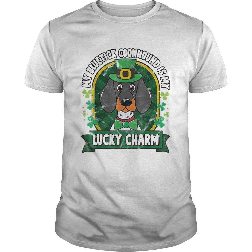 Bluetick Coonhound St Patricks Lucky Charm shirt Classic Men's
