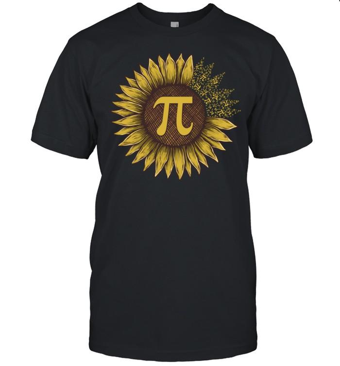 Pi Day Sunflowers Pi Number Symbol Teacher Math shirt Classic Men's T-shirt