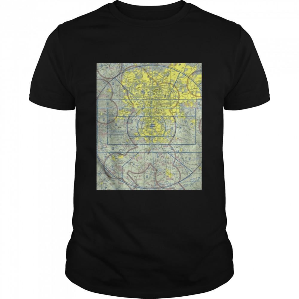 Aeronautical VFR Sectional Chart Atlanta shirt