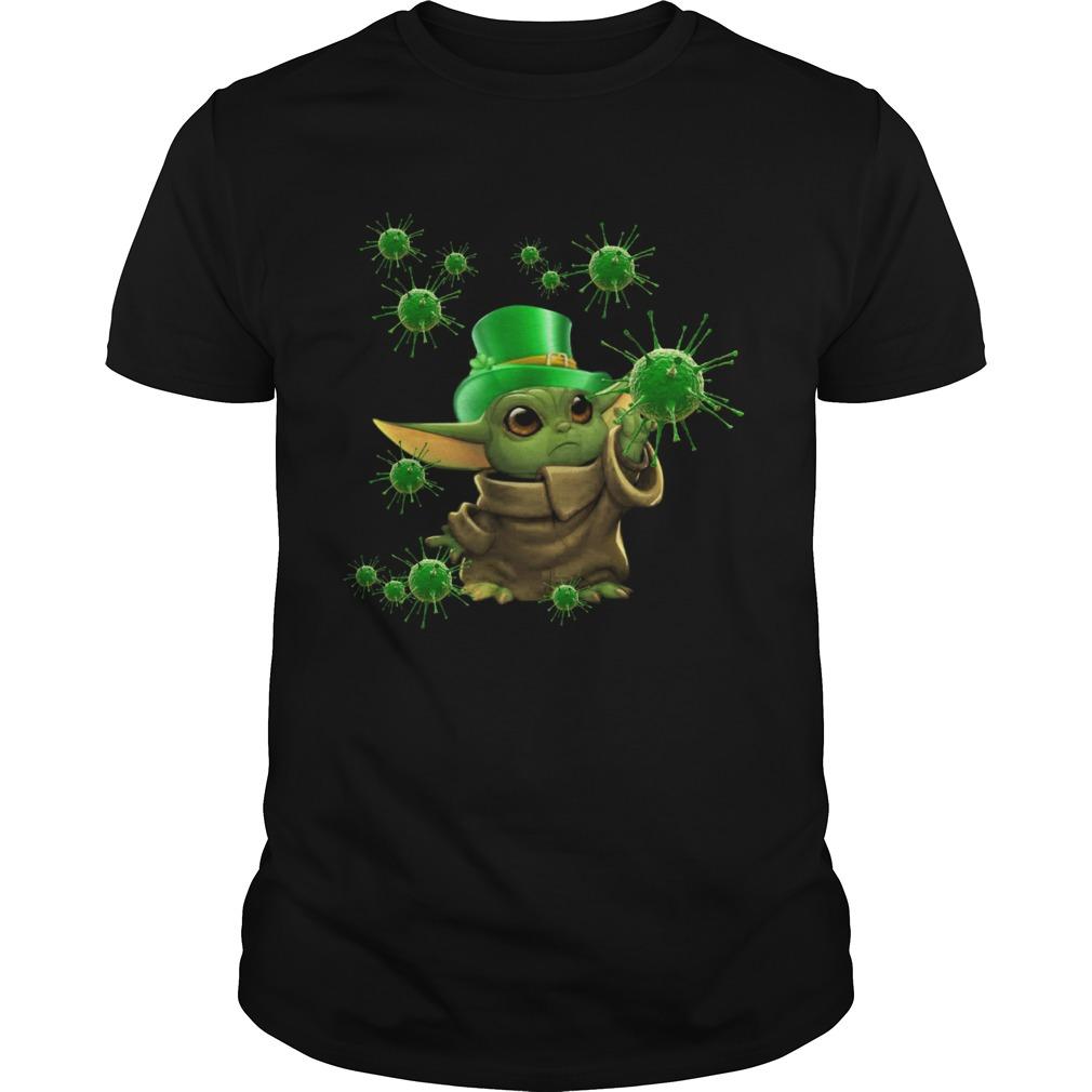 Baby Yoda Coronavirus Patricks Day shirt Classic Men's