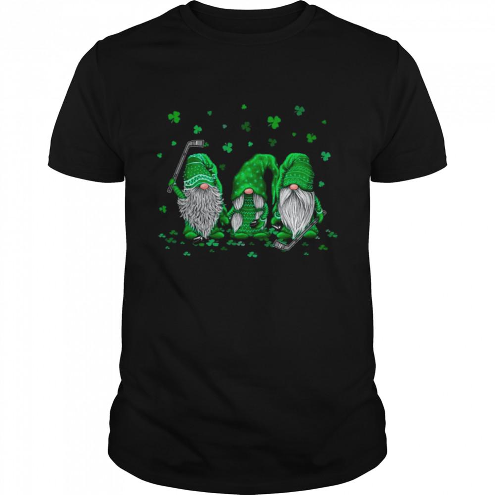 Gnome Playing Hockey Happy St Patrick's Day 2021 shirt Classic Men's T-shirt
