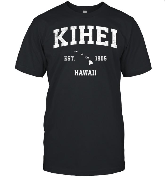 Kihei Hawaii HI Vintage Athletic Sports shirt Classic Men's T-shirt