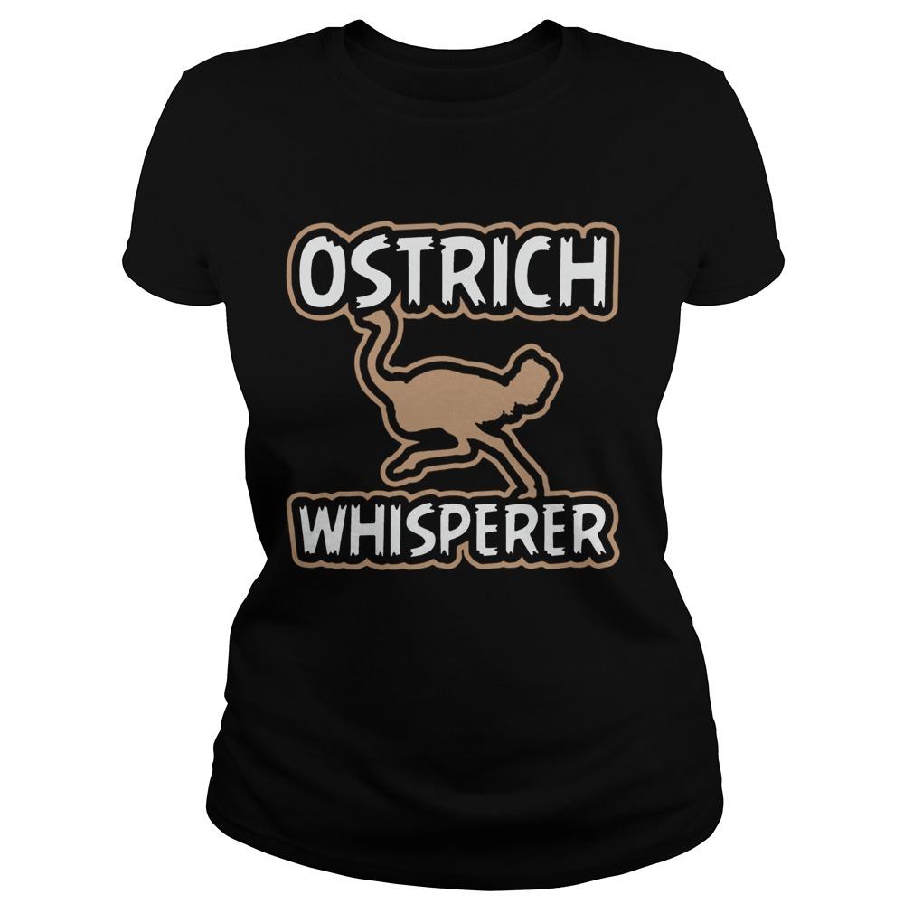 ostrich whisperer bird watching  classic ladies