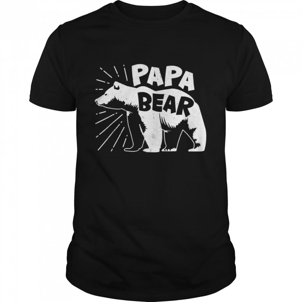 Papa Bear Best Dad Fathers Day Father shirt Classic Men's T-shirt