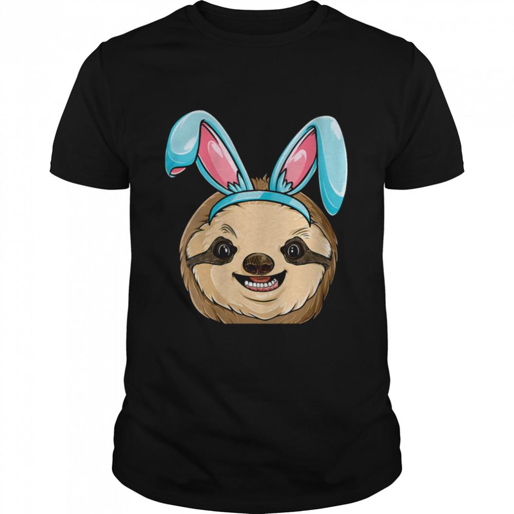 Sloth Easter Bunny Ears Costume Animal shirt Classic Men's T-shirt
