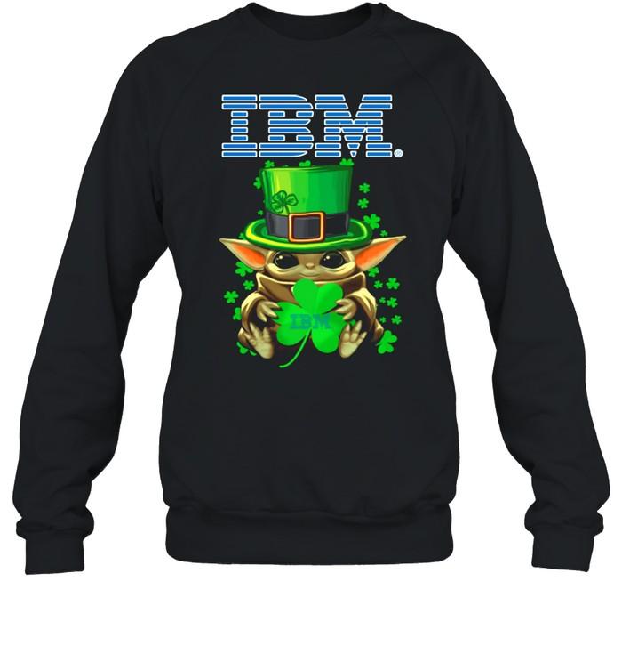 Baby Yoda Hug A Three Leaved Clover Lucky shirt Unisex Sweatshirt