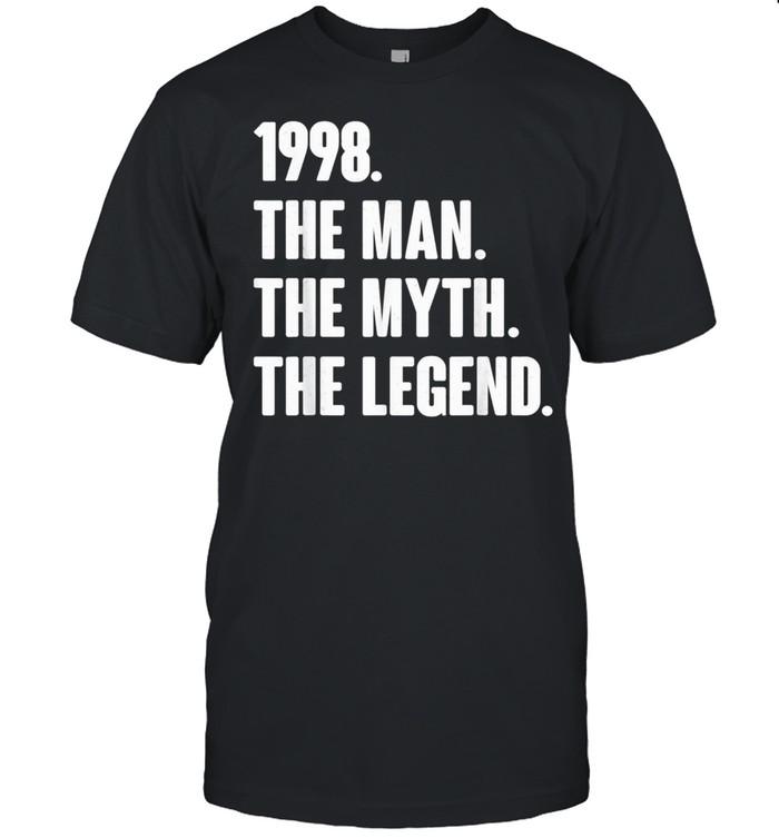 Retro Vintage 23rd 1998 Birthday For 23 Year Old Man shirt Classic Men's T-shirt