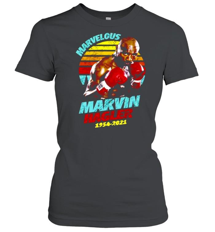 Rip Marvin Hagler 1954-2021 vintage retro shirt Classic Women's T-shirt