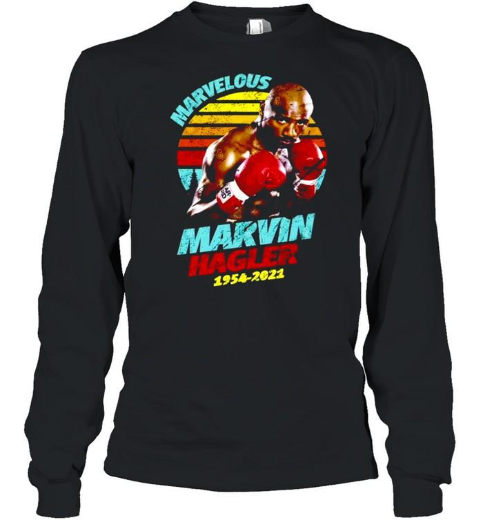 Rip Marvin Hagler 1954-2021 vintage retro shirt Long Sleeved T-shirt