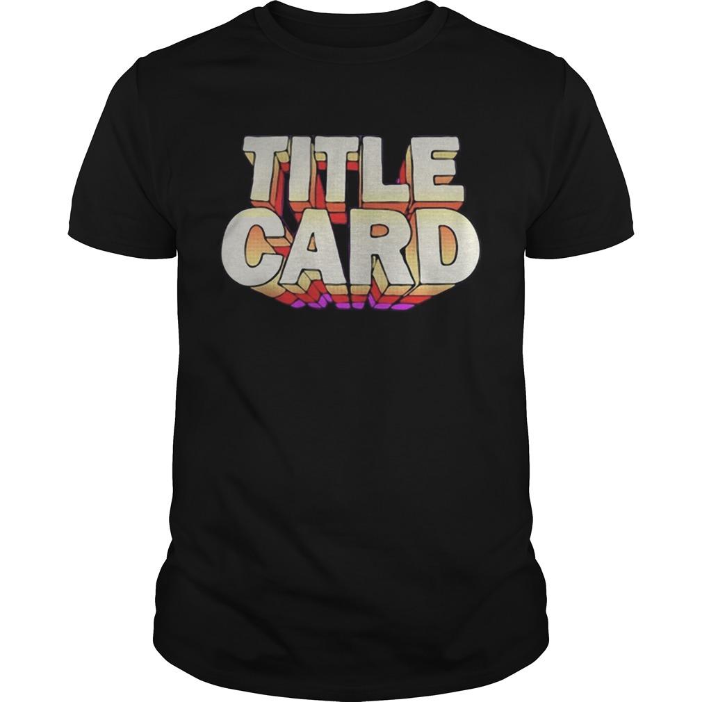 Title Card shirt Classic Men's