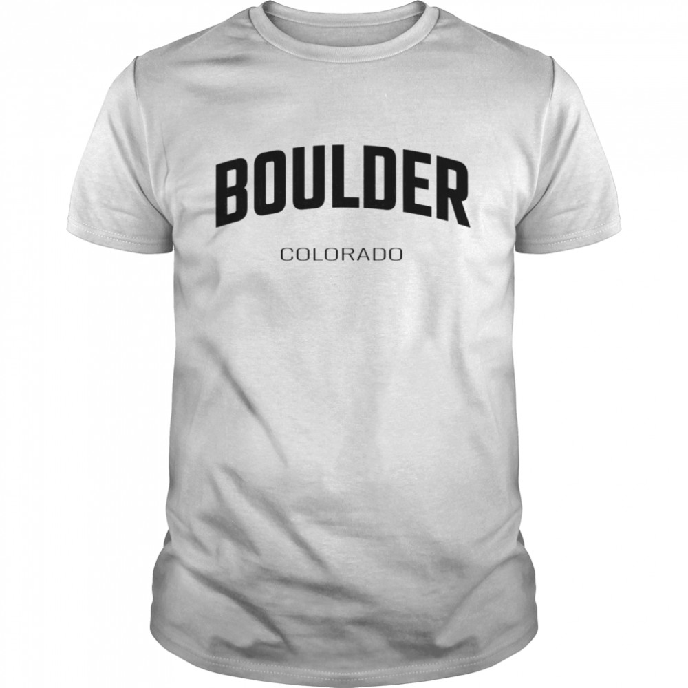 Boulder Colorado CO vintage state Athletic shirt Classic Men's T-shirt